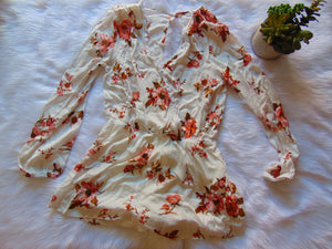 Ivory Flowered Romper