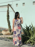 Purple/Pink Maxi Floral Dress