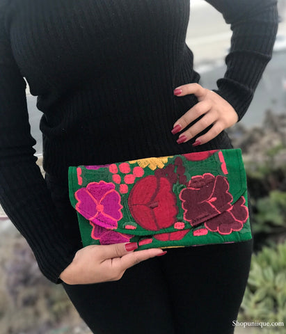 Small Green Clutch