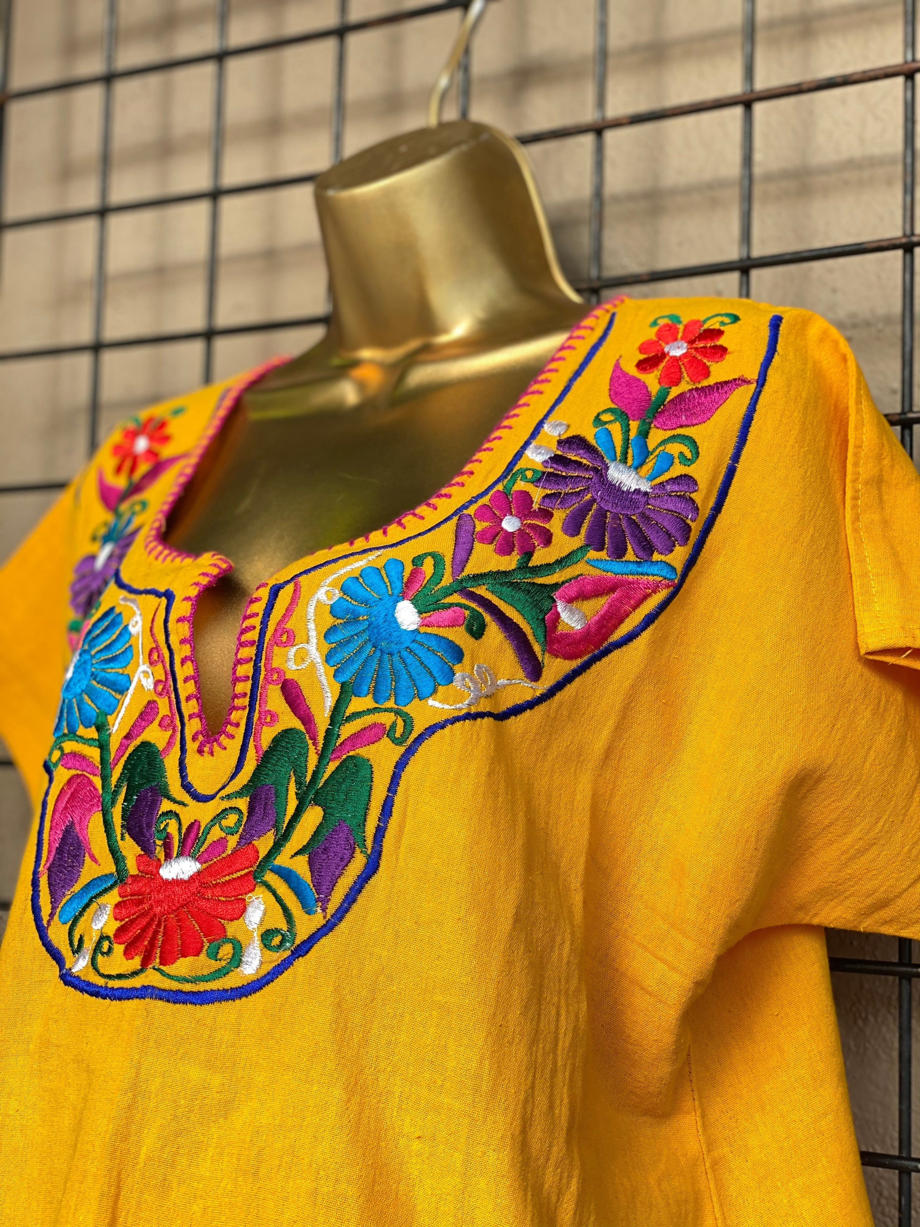 Yellow Floral Top (L/XL)