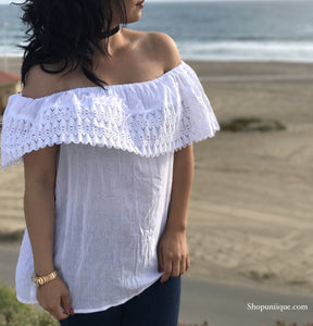 White Off-the-shoulder