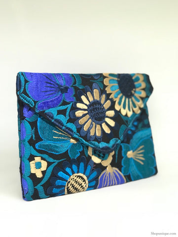 Black and Blue Cross Body