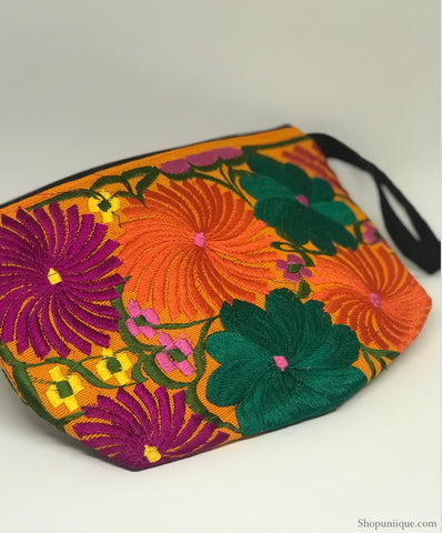 Orange Cosmetic Bag