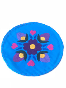 Floral Royal Blue Tortilla Warmer