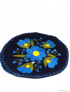 Floral Blue Tortilla Warmer