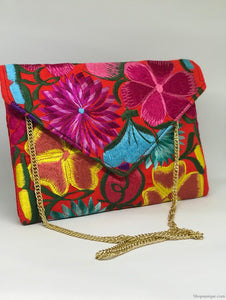 Floral Orange Cross Body