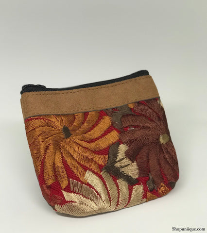 Red & Brown Coin Purse