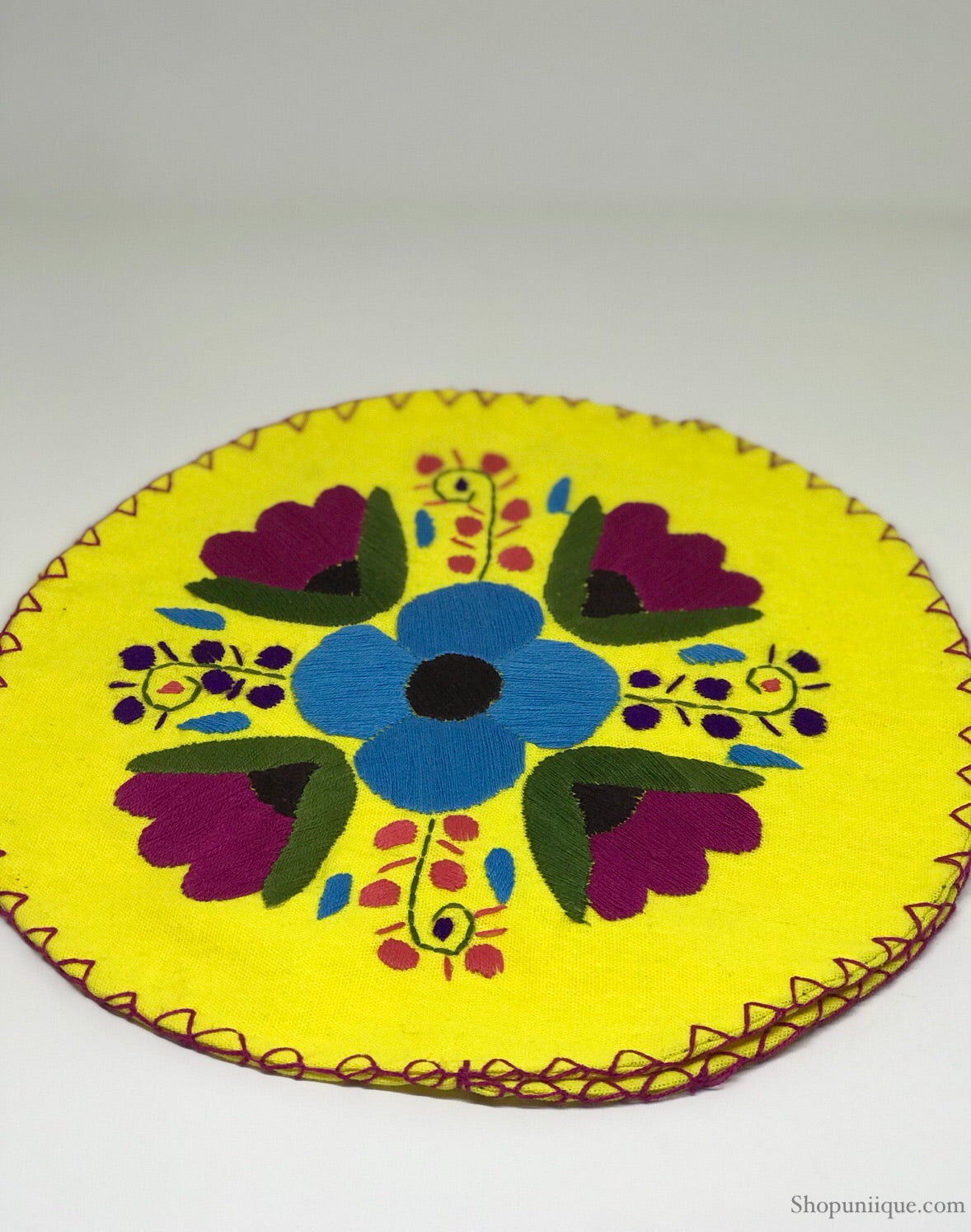 Floral Yellow Tortilla Warmer