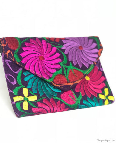 Medium Spring Purple Clutch