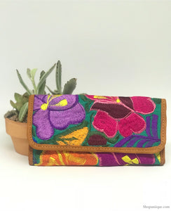 Floral Turquoise Wallet