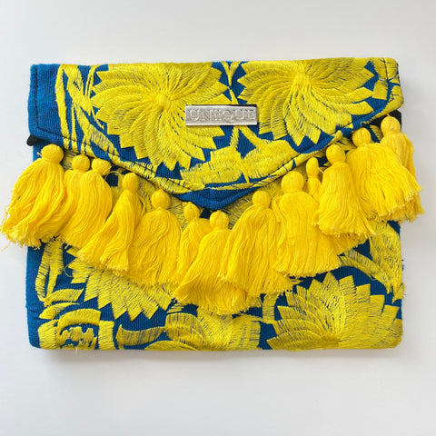 Blue and Yellow Clutch
