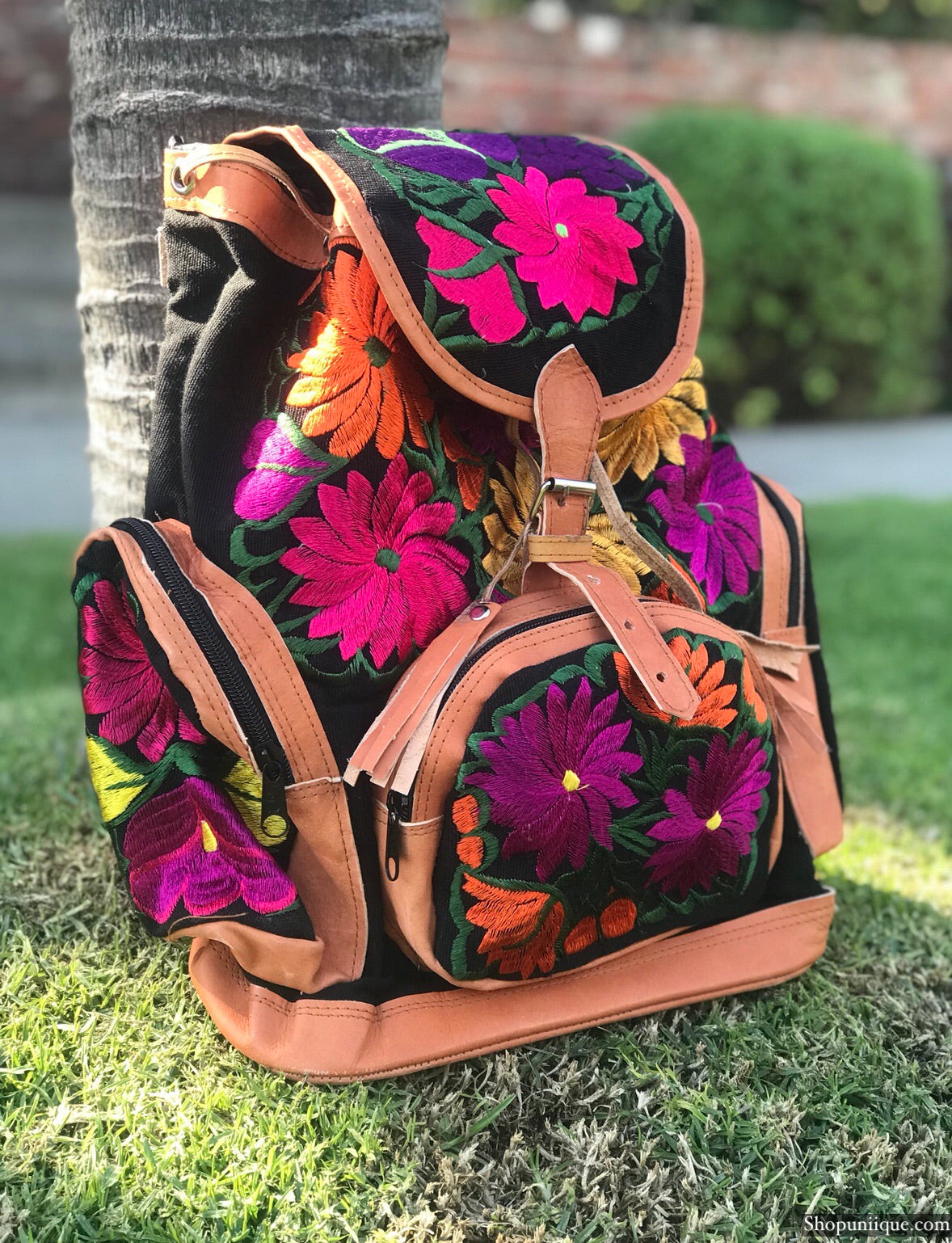 Multi Pocket Black Backpack