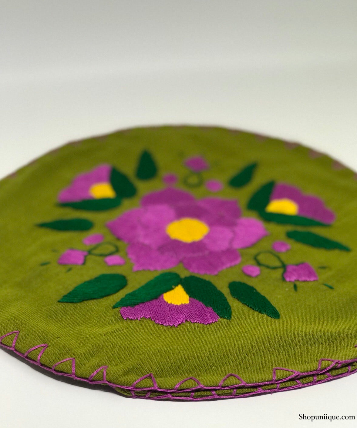 Floral Green Tortilla Warmer