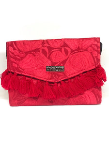 Red Tassel Clutch