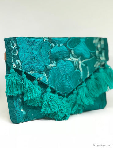 Turquoise Tassel Cross Body