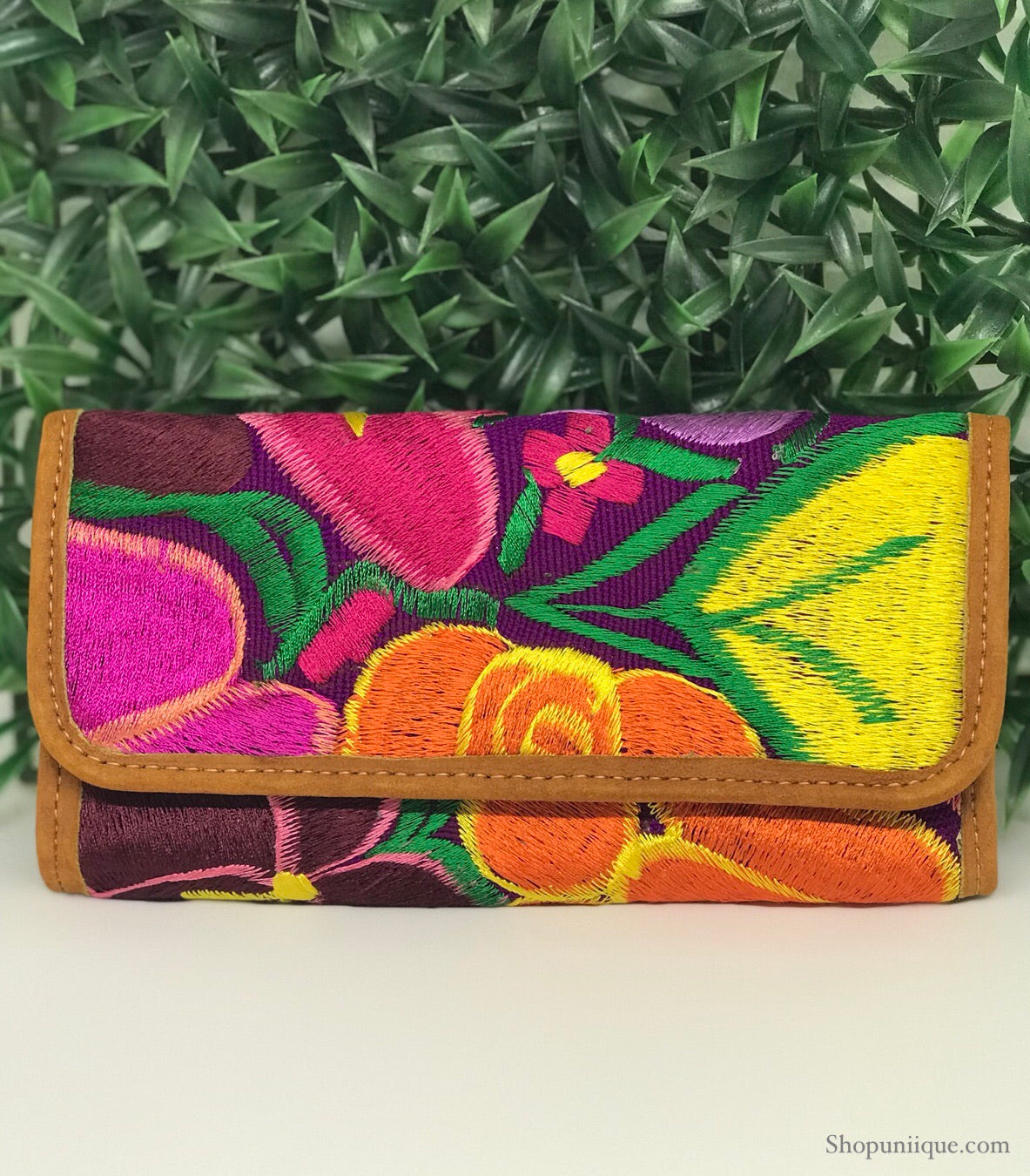 Floral Purple Wallet
