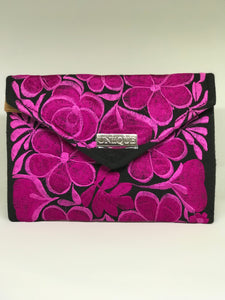 Black and Dark Pink Clutch