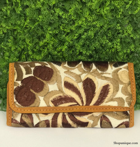 White and Brown Wallet