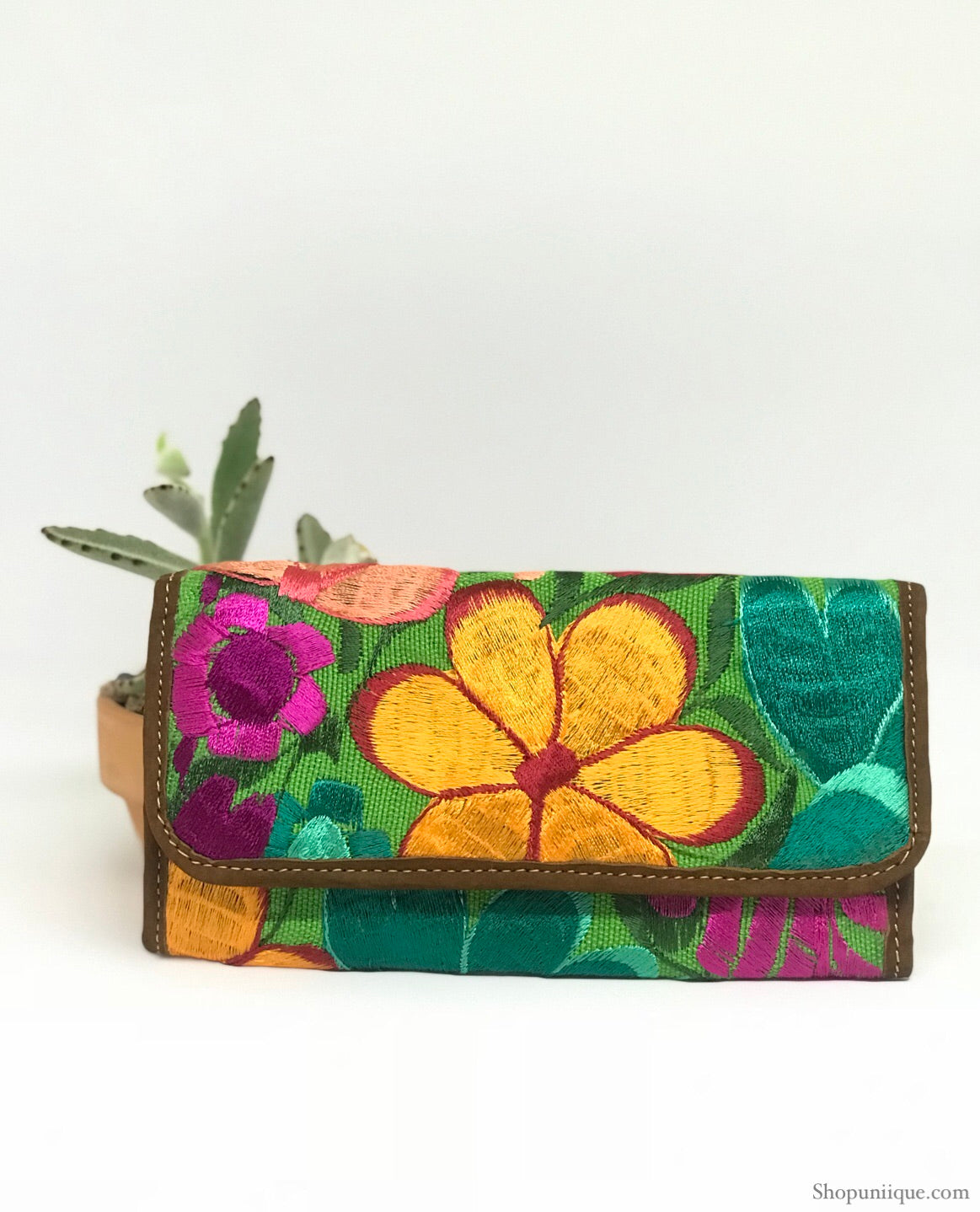 Floral Green Wallet
