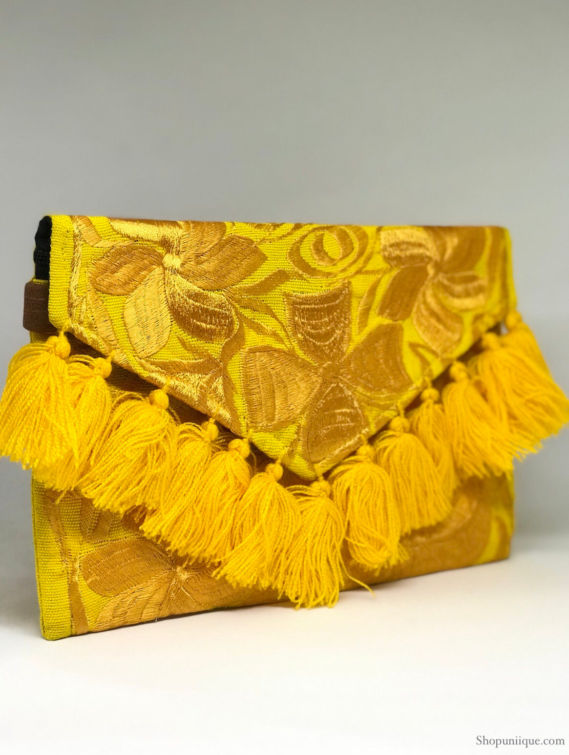 Yellow Tassel Cross Body