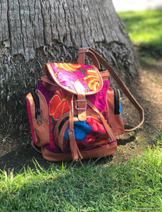 Small Multi Pocket Violet Backpack