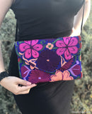 Medium Blue and Purple Clutch