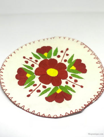 White and Red Tortilla Warmer