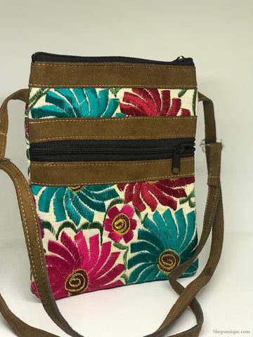 Floral White Cross Body