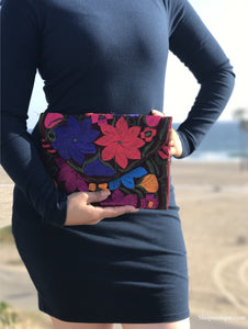 Medium Red Wine Clutch