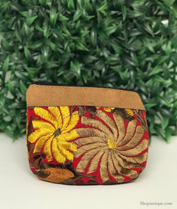 Floral Red Coin Purse