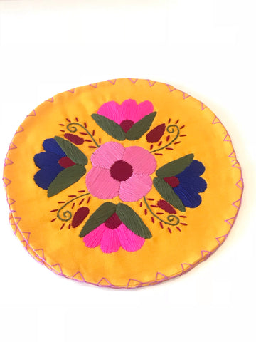 Floral Amber Yellow Tortilla Warmer