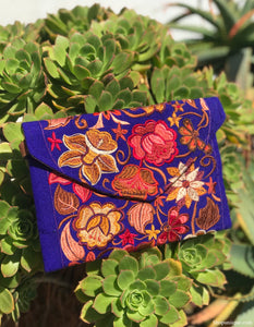 Floral Royal Blue Cross Body