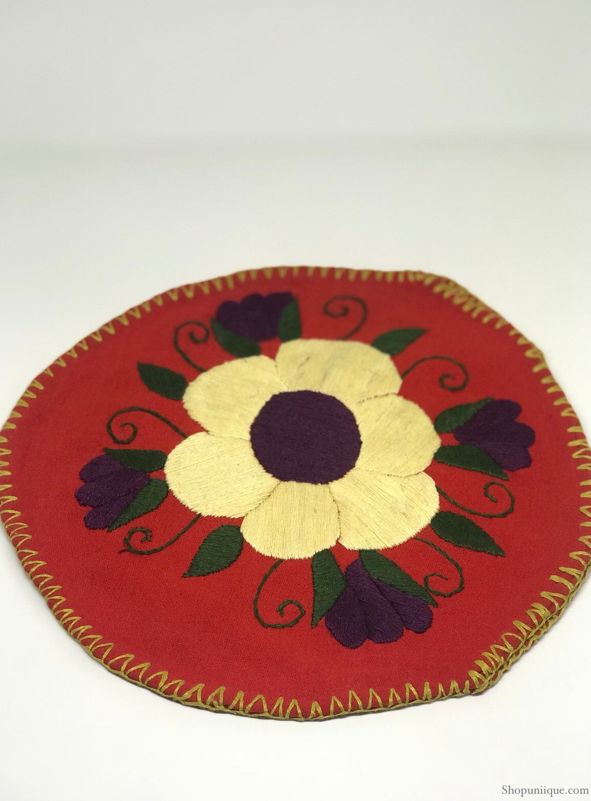 Floral Red Tortilla Warmer