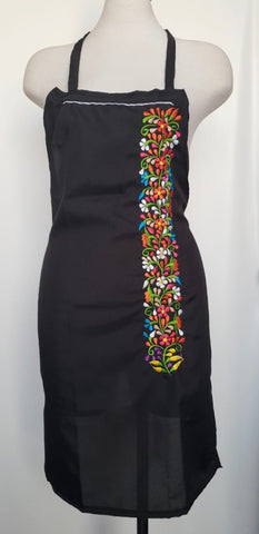 Floral Embroidered Apron