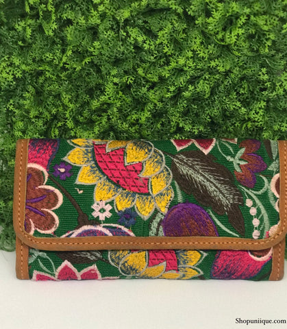 Sunflower Green Wallet