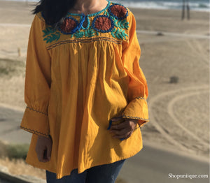 Yellow Floral Long Sleeve