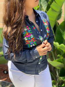 Jean Embroidered Top