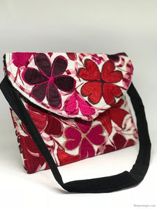 White and Red Cross Body
