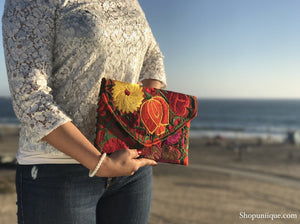 Medium Orange Red Clutch