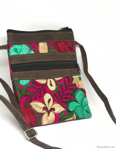 Dark Pink Cross Body
