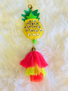 Sparkle Pineapple Keychain