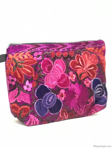 Floral Purple Cosmetic Bag