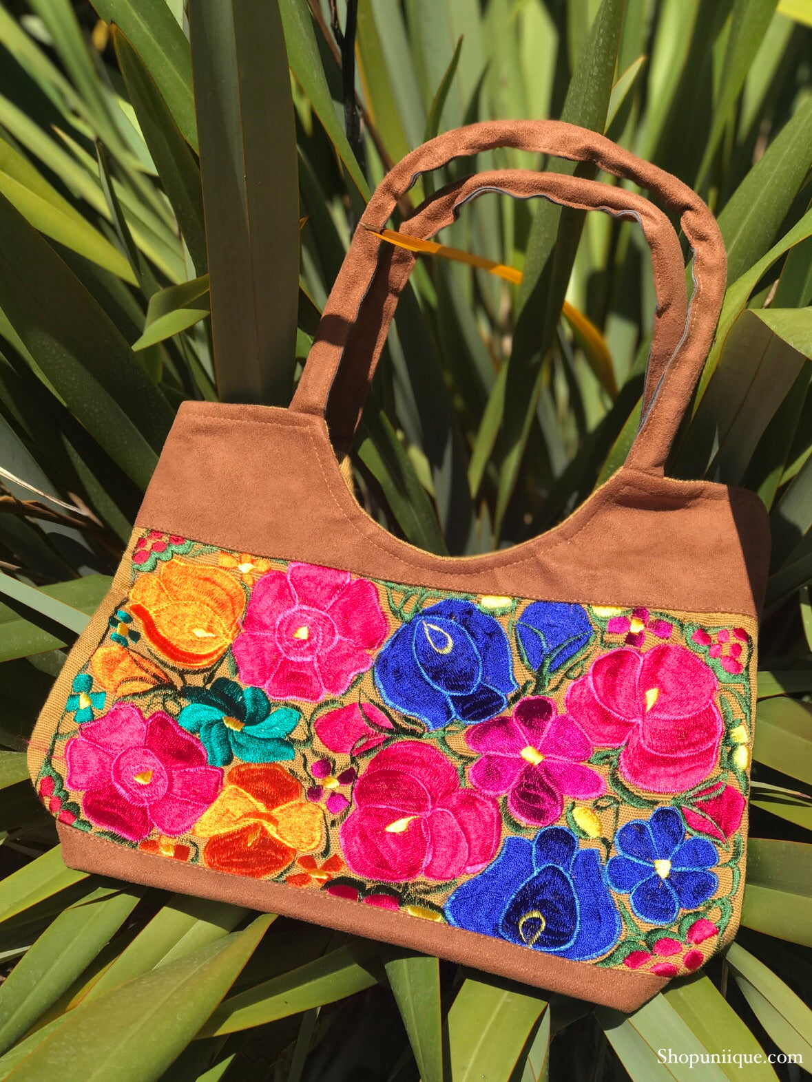 Floral Olive Purse