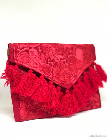 Red Tassel Cross Body