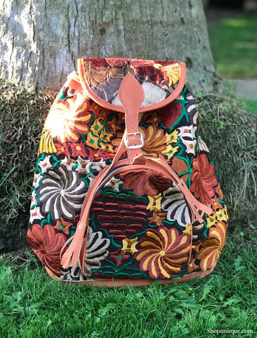 Floral Brown Backpack