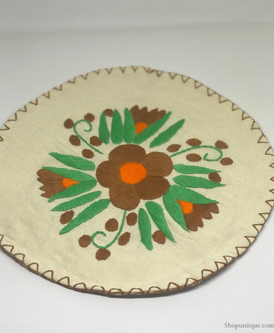 White & Brown Tortilla Warmer