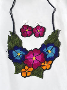 Magenta Floral Necklace