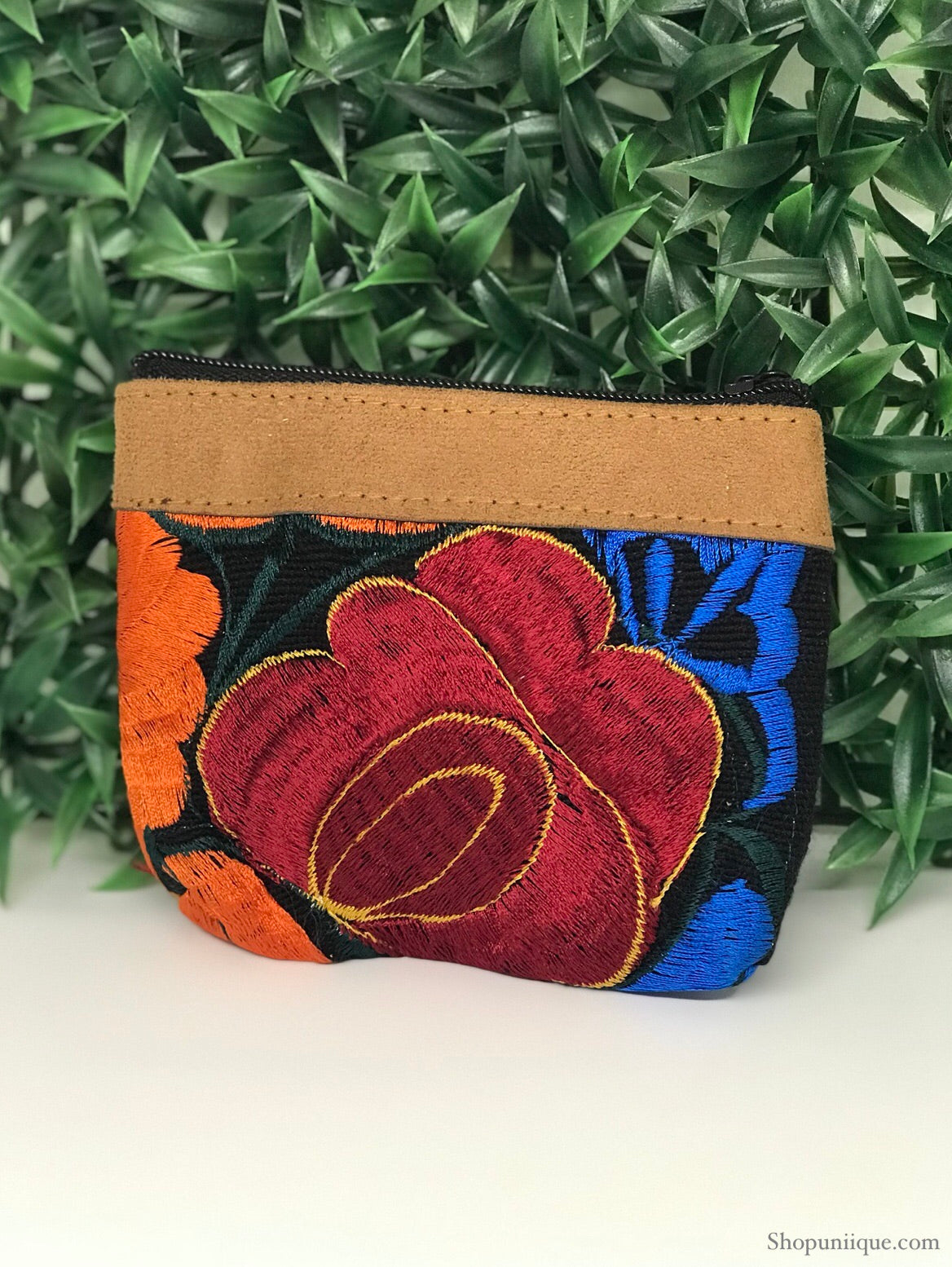 Floral black and red Coin Purse