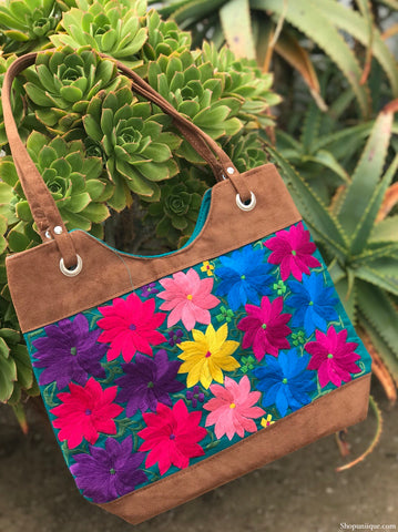 Floral Turquoise Purse