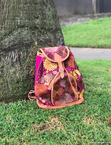 Floral Magenta Backpack